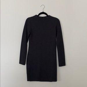 Zara Dark Grey Long Sleeve Sweater Dress